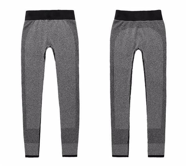 Chrleisure Women Leggings Spandex Slim Elastic Comfortable High Waist Super Stretch Workout Trousers-Bottoms-KA CHRLEISURE Store-gray-S-EpicWorldStore.com
