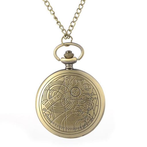 Cindiry Brand Vintage Bronze Doctor Quartz Pocket Watch Who Style Best Gift Necklac-Pocket & Fob Watches-Moroccolove Store-EpicWorldStore.com