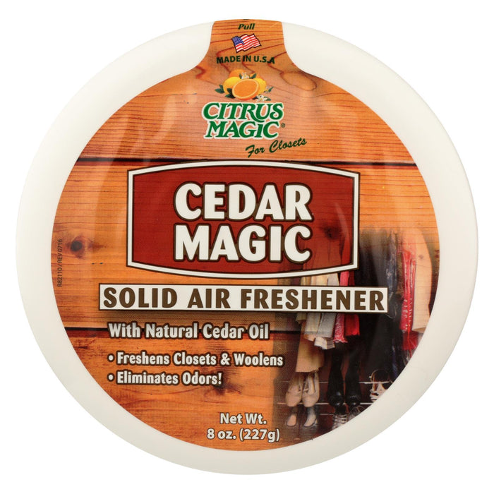 Citrus Magic Cedar Magic Solid Air Freshener - Case Of 6 - 8 Oz-Eco-Friendly Home & Grocery-Citrus Magic-EpicWorldStore.com