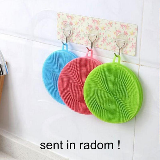 Cleaning Brush Dishwashing Sponge Multi-Functional Fruit Vegetable Cutlery Kitchenware Brushes-Household Cleaning-Home Zone-Random-EpicWorldStore.com