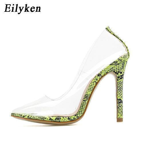 Clear Pvc Transparent Pumps Sandals Perspex Heel Stilettos High Heels Point Toes Womens Party-Women's Pumps-Eilyken Store-Apricot-4-EpicWorldStore.com