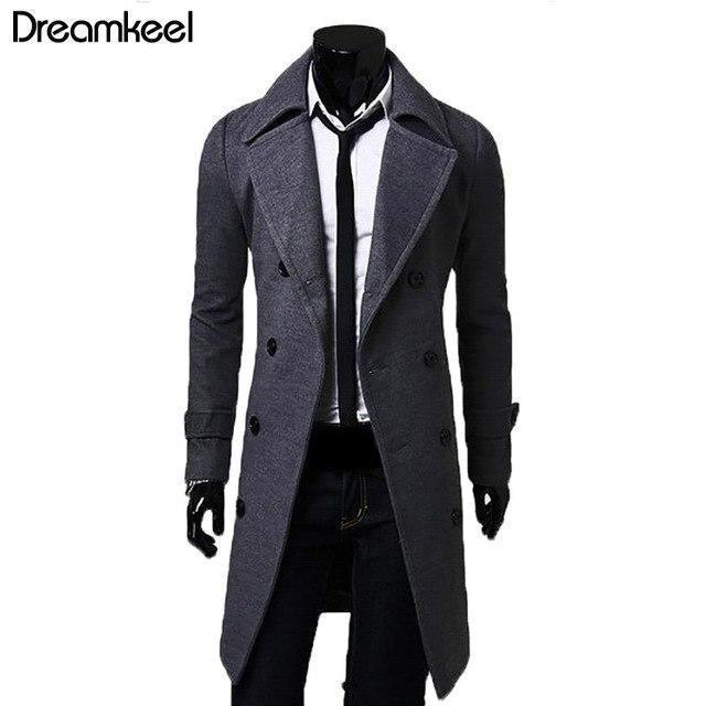 Clearance European Style Mens Jacket Double Breasted Coat Mens Winter Jackets And Coats Lengthened-Shop4601009 Store-Khaki-L-EpicWorldStore.com