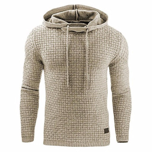 Clearance Hoodies Men Brand Male Long Sleeve Solid Color Hooded Sweatshirt Mens Hoodie Tracksuit-Hoodies & Sweatshirts-Wsms Store-White-L-EpicWorldStore.com