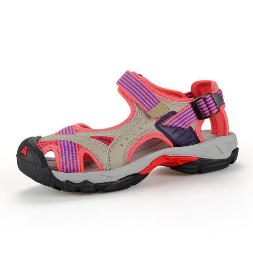 Clearance Humtto Top Quality Womens Summer Leather Outdoor Trekking Hiking Sandals Shoes-Topace-Pink-4.5-EpicWorldStore.com