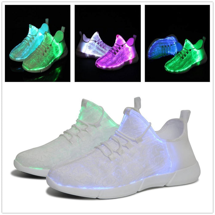 Clearance Luminous Sneakers Glowing Light Up Shoes For Kids White Led Sneakers Children Flashing-Sneakers-time tree-8.5-EpicWorldStore.com