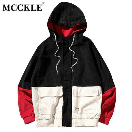 Clearance Mcckle Spring Color Block Patchwork Corduroy Hooded Jackets Men Hip Hop Hoodies-Jackets & Coats-Yo-Yo Store-green-XXXL-EpicWorldStore.com