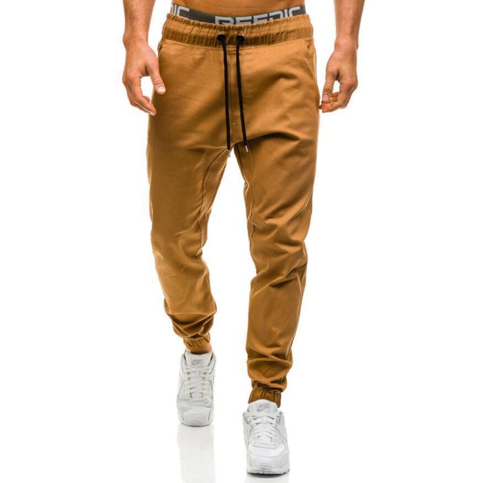 Clearance Men Jogger Pants Male Trousers Mens Pencil Pants Casual Solid Pant Sweatpants Jogger-Jogger Pants-CHENYI Store-Khaki-XL-EpicWorldStore.com