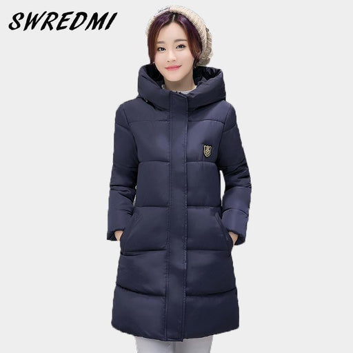 Clearance Swredmi White Winter Coat Women Hot Sale Long Parka Students Slim Female Clothing-Jackets & Coats-SWREDMI Official Store-White-M-EpicWorldStore.com