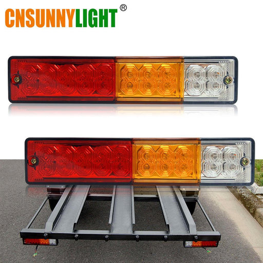 Cnsunnylight Waterproof 20Leds Atv Trailer Truck Led Tail Light Lamp Yacht Car Taillight Reversing-ATV,RV,Boat & Other Vehicle-cnsunnylight Official Store-EpicWorldStore.com
