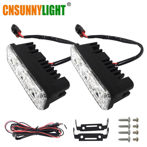 Cnsunnylight Waterproof Car High Power Aluminum Led Daytime Running Lights With Lens Dc 12V Super-Car Lights-cnsunnylight Official Store-9LED DRL-EpicWorldStore.com