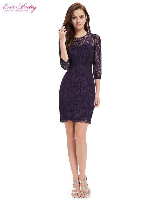 hot product hot products genuine shoes Cocktail Dresses Ever Pretty Ep03792 Special Occasion Women Long Sleeve  Slim Fit Elegant