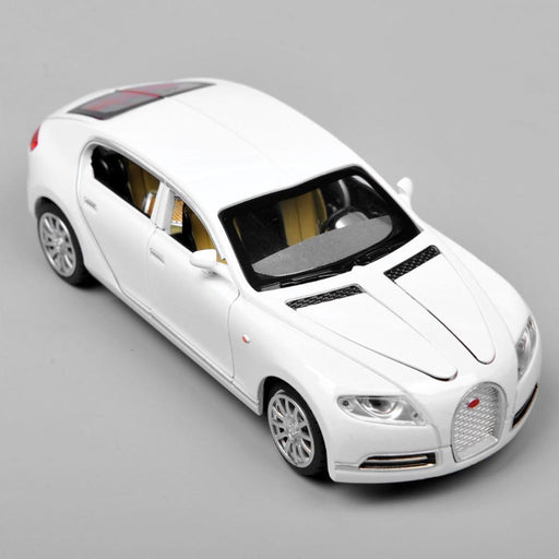 Collectible Alloy Diecast 1/32 Bugatti Veyron 16C Galibier Electronic Light Sound Pull Back Cars-Diecasts & Toy Vehicles-FT Future Store-white-EpicWorldStore.com