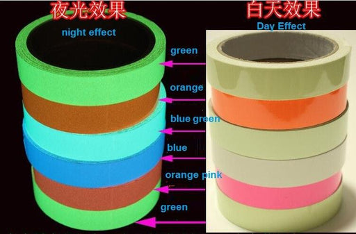 Color Ktv Pet Luminescent Film Diy Glowing Tapes Waring Stripes Night Lighting Emergency Lines-WooFun Store-Blue-15mm x 5m-EpicWorldStore.com