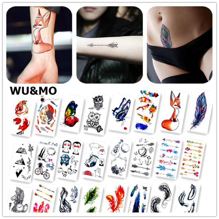 Colorful Butterfly Fox Feather Body Art Stylish Harajuku Waterproof Temporary Tattoo For Man Woman-Tattoo & Body Art-WU&MO Tattoo Factory-RC373-EpicWorldStore.com