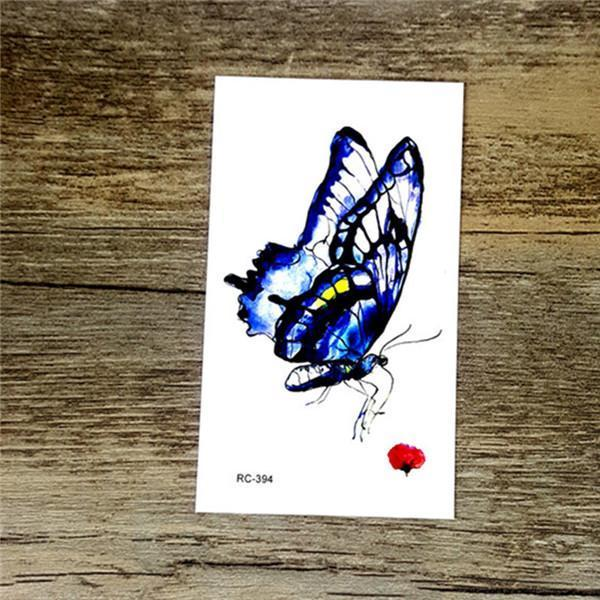 Colorful Butterfly Fox Feather Body Art Stylish Harajuku Waterproof Temporary Tattoo For Man Woman-Tattoo & Body Art-WU&MO Tattoo Factory-RC394-EpicWorldStore.com