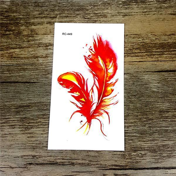 Colorful Butterfly Fox Feather Body Art Stylish Harajuku Waterproof Temporary Tattoo For Man Woman-Tattoo & Body Art-WU&MO Tattoo Factory-RC449-EpicWorldStore.com