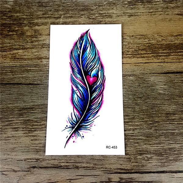 Colorful Butterfly Fox Feather Body Art Stylish Harajuku Waterproof Temporary Tattoo For Man Woman-Tattoo & Body Art-WU&MO Tattoo Factory-RC453-EpicWorldStore.com