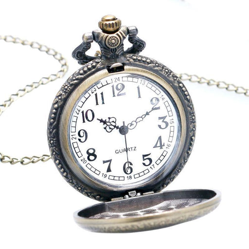 Cool Necklace Clock For Men Women Ac/Dc Band Hell Bell Design Rock Style Quarzt Pocket-Pocket & Fob Watches-Watchonor Store-EpicWorldStore.com