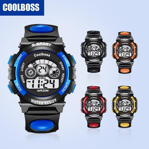 Coolboss Brand Children Watches Led Digital Kids Watches Boys And Girl Student-Children's Watches-DF Watch Store-black-EpicWorldStore.com