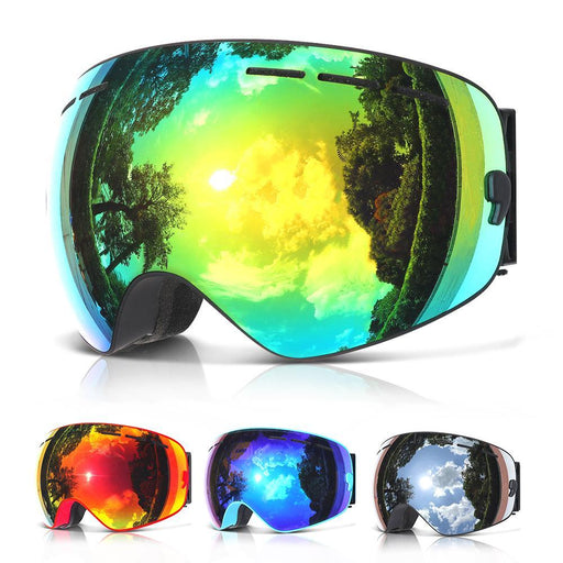 Copozz Brand Professional Ski Goggles Double Layers Lens Anti-Fog Uv400 Big Ski Glasses Skiing-Shooting-BestCost Brands store-Frame White-EpicWorldStore.com