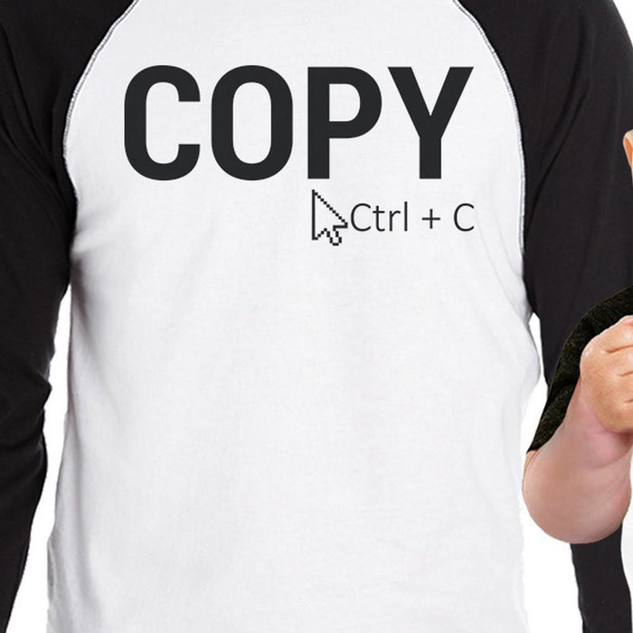 cee5ed10 Copy And Paste Dad Baby Matching Baseball Shirts Funny New Dad Gift-Apparel  & Accessories