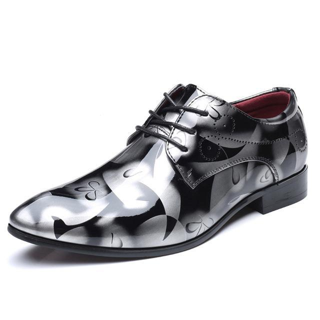 68c5f1ec33d Cosidram Patent Leather Oxford Shoes For Men Dress Shoes Men Formal Shoes  Pointed Toe Business