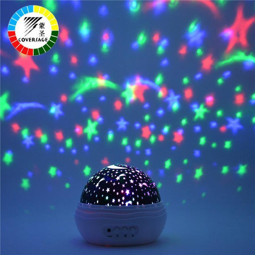 Coversage Night Light Projector Rotating Starry Sky Star Master Spin Romantic Led Lamp Projection-LED Night Lights-COVERSAGE Official Store-Blue-EpicWorldStore.com