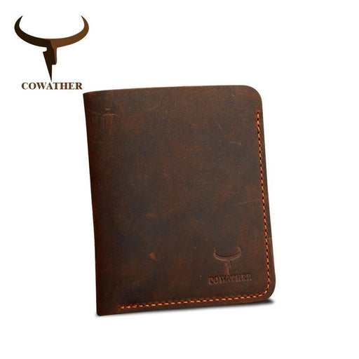 Cowather Crazy Horse Leather Men Wallets Vintage Genuine Leather Wallet For Men Cowboy Top Leather-COWATHER Official Store-coffee cross-EpicWorldStore.com