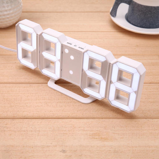 Creative 3D 4 Digital Led Table Wall Clock Timer Home Decoration Desk Alarm Snooze Alert 12/24Hour-Novelty Lighting-futureline9-EpicWorldStore.com