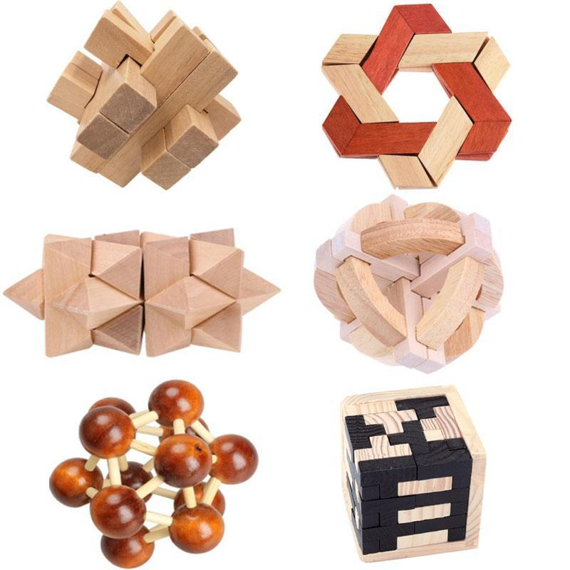 Creative 3D Russia Ming Luban Educational Toy Educational Wood Puzzles For  Adults Kids Brain