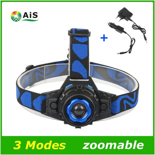 Cree Q5 Led Frontal Led Headlamp Headlight Flashlight Rechargeable Linternas Lampe Torch Head Lamp-Portable Lighting-AiSangPro Store-with EU plug charger-EpicWorldStore.com