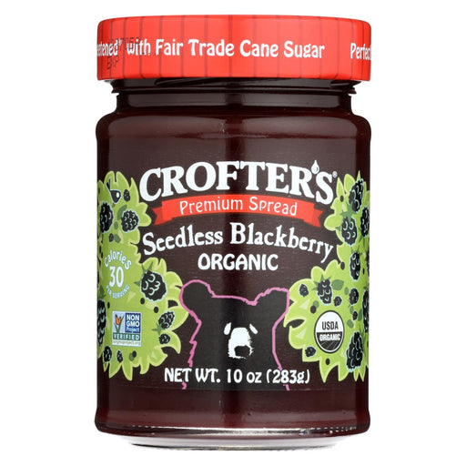 Crofters Fruit Spread - Organic - Premium - Blackberry - 10 Oz - Case Of 6-Eco-Friendly Home & Grocery-Crofters-EpicWorldStore.com