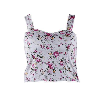 Crop Top Short Cami Tank Top Female Cute Floral Tube Women Tops Dill Black Stylish Cropped Tops-Tops & Tees-JYCGOODLUCKY Store-C2 crop top-EpicWorldStore.com