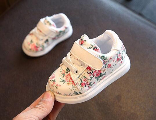 Cute Baby Shoes For Girls Soft Moccasins Shoe Spring Black Flower Baby Girl Sneakers Toddler-Baby Shoes-StrawBerry_ Store-pink-3-EpicWorldStore.com