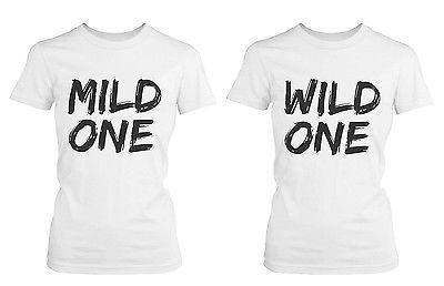 bede95d1 Cute Best Friend T Shirt - Mild One And Wild One - Funny Bff Matching Shirt