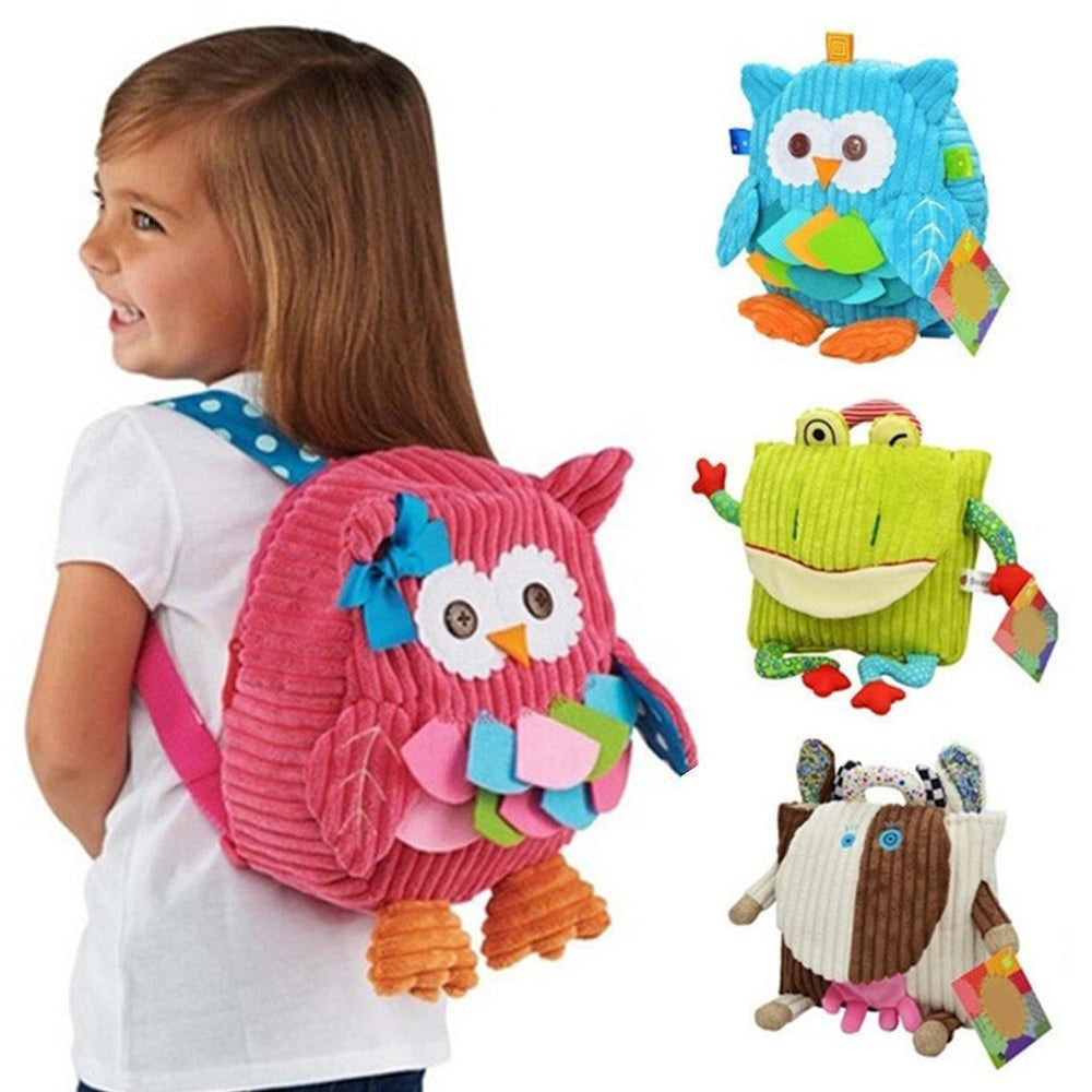 Cute Cartoon Soft Owl Monkey Animals Children Backpack For Baby School Bag  Girl Boy Christmas Gift c148a326590d4