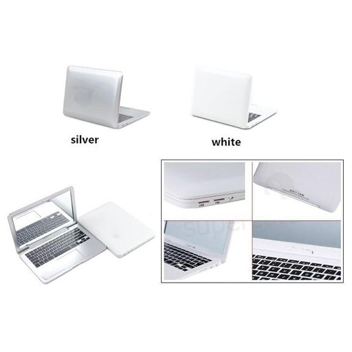 Cute Makeup Mini Pocket Laptop Style Clear Glass Women Cosmetic Beauty Mirror Notebook-Yanyany makeup tool Store-Silver-EpicWorldStore.com