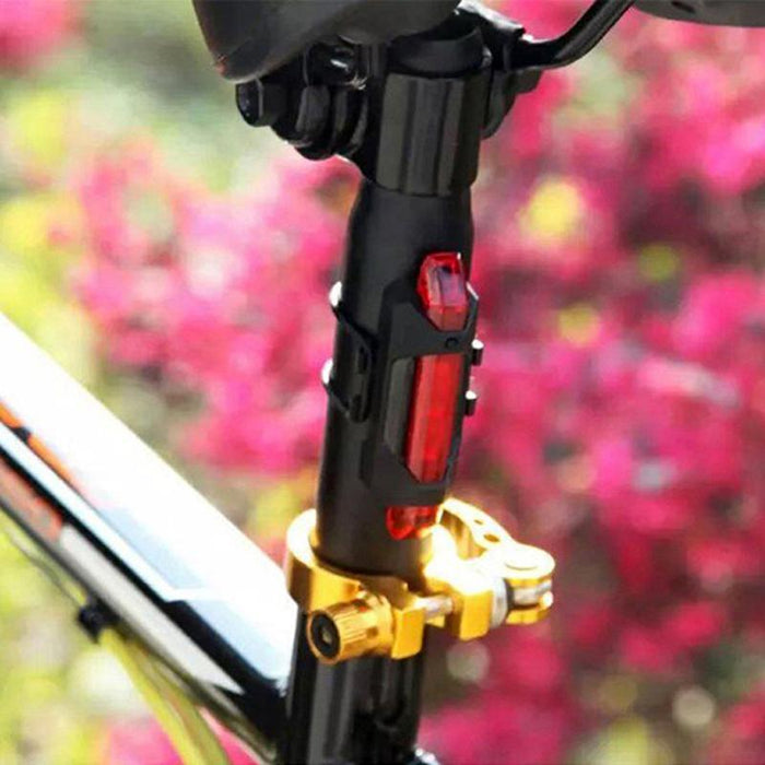 USB Rechargeable Bike Tail Light Bicycle Safety Cycling Warning Rear Lamp NEW