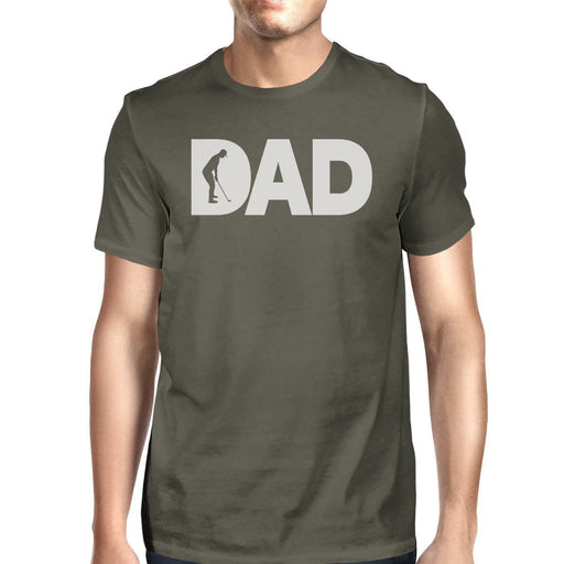 Dad Golf Mens Dark Grey Round Neck Tee Fathers Day Gifts For Dad-Apparel & Accessories-365 Printing-SMALL-EpicWorldStore.com