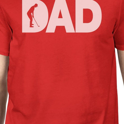 Dad Golf Mens Red Cotton Graphic Tee Unique Design T-Shirt For Dad-Apparel & Accessories-365 Printing-X-LARGE-EpicWorldStore.com