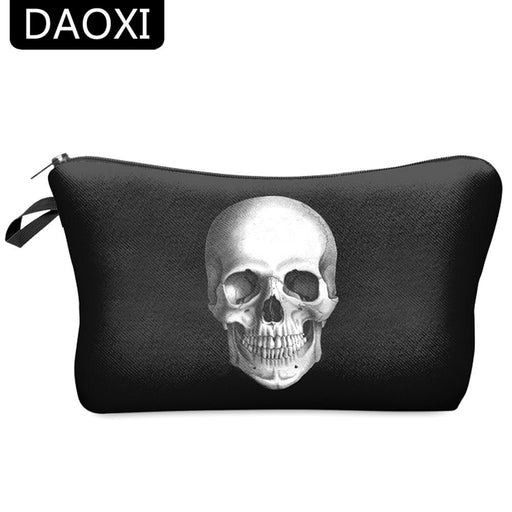Daoxi 3D Skull Printing Portable Cosmetic Bag Storage Women For Traveling Makeup Necessaries-Cosmetic Bags & Cases-DAOXI Bag Store-13-EpicWorldStore.com