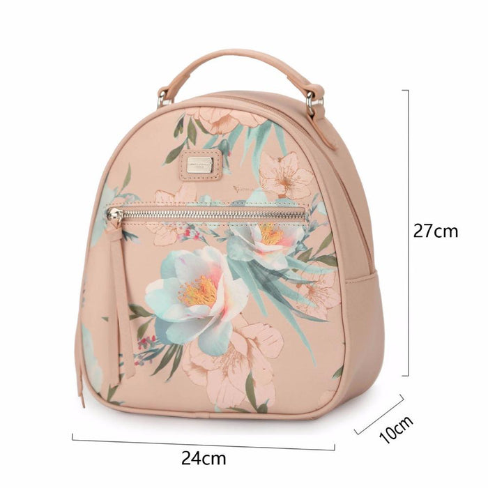c26ae560d8 Davidjones Women Backpacks Faux Leather Female Shoulder Bags Big Lady  Flower School Bag Girl-DAVID