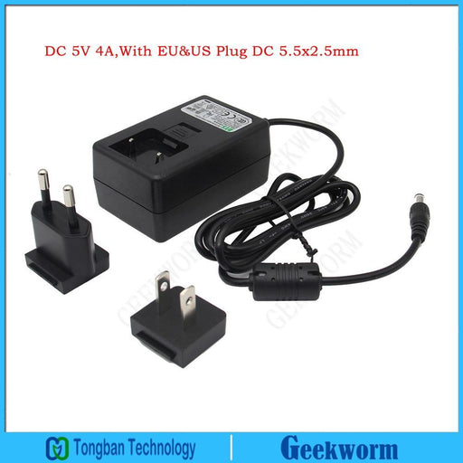 Dc 5V 4A Power Adapter With Eu / Us Plug Dc5.5X2.5 For Raspberry Pi X-Serial Board-Industrial Computer & Accessories-Geekworm official store-EpicWorldStore.com