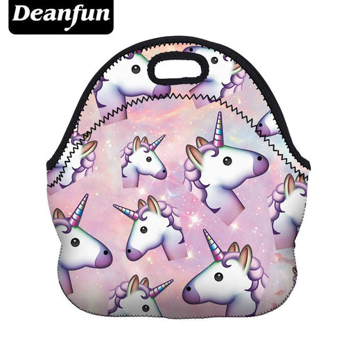 Deanfun Unicorn Lunch Bag 3D Printed Cartoon New Neoprene Waterproof Zipper For Picnic Women-Functional Bags-deanfun Official Store-50801-EpicWorldStore.com