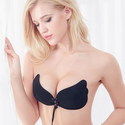Deruilady Angel Stylish Bra Seamless Strapless Bra Female Must Push Up Bra Wire Free-Bras-DeRuiLaDy Official Store-Black-A-EpicWorldStore.com