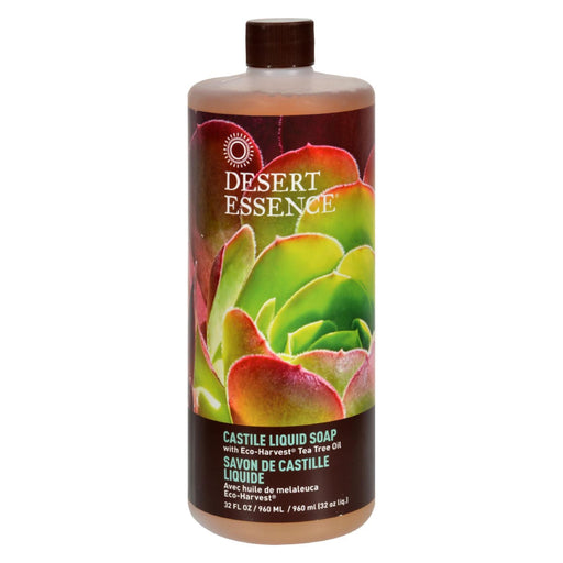 Desert Essence - Castile Liquid Soap With Eco-Harvest Tea Tree Oil - 32 Fl Oz-Eco-Friendly Home & Grocery-Desert Essence-EpicWorldStore.com