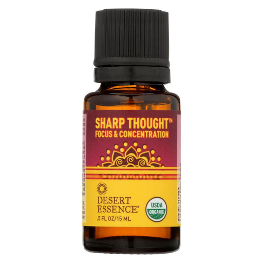 Desert Essence - Essential Oil - Sharp Thought - Case Of 1 - .5 Fl Oz.-Eco-Friendly Home & Grocery-Desert Essence-EpicWorldStore.com