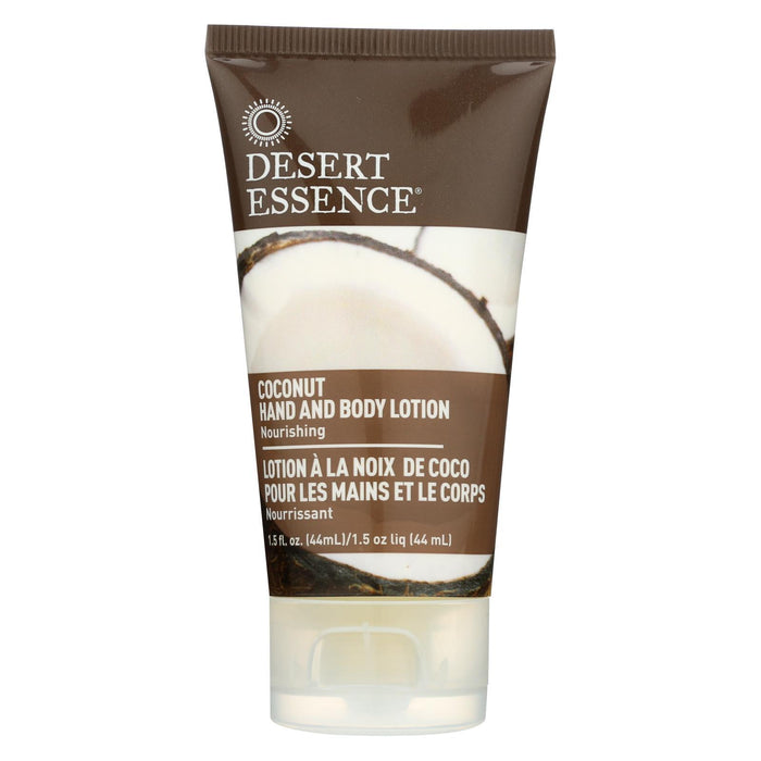 Desert Essence - Hand And Body Lotion - Coconut - Travel Sz - 1.5 Oz - 1 Case-Eco-Friendly Home & Grocery-Desert Essence-EpicWorldStore.com