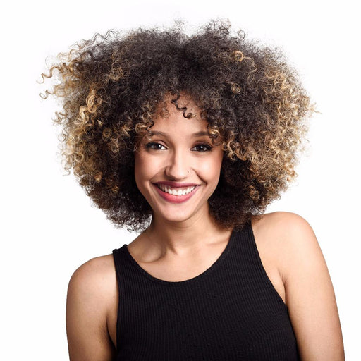 Deyngs Short Afro Kinky Curly Synthetic Wigs For Black Women Ombre Blonde Natural Afro Curly Wigs-DeYngs Hair Store-#22-EpicWorldStore.com