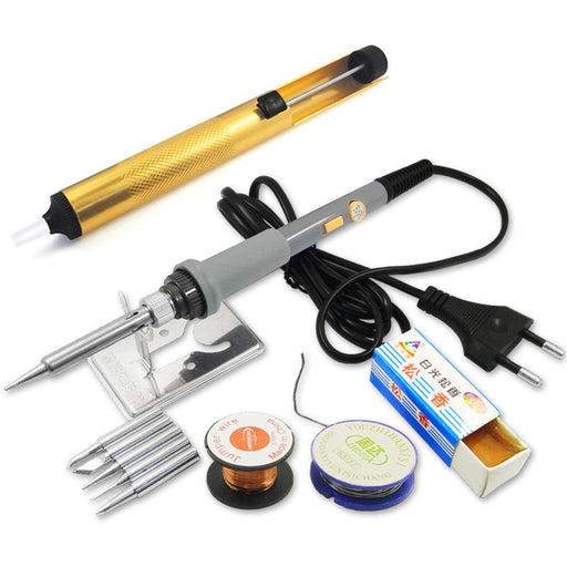 Dgks 60W Adjustable Temperature Electric Soldering Iron Set Welding Solder Station Heat Pencil-ATORCH Innovative Manufactory Co., Store-USB jack 6pcs kit-EpicWorldStore.com
